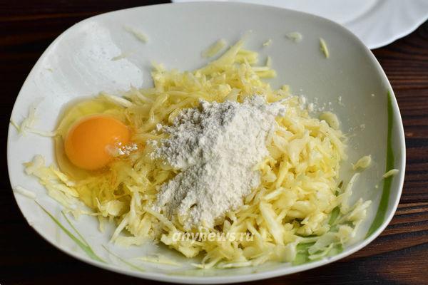 Капустные зразы с яйцом