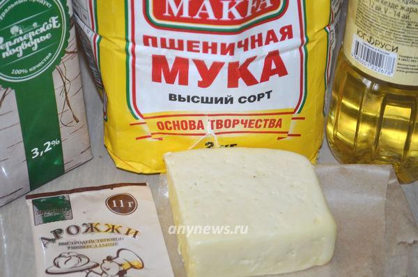Лепешки с сыром на молоке - ингредиенты
