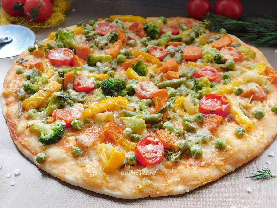 овощная пицца - рецепт