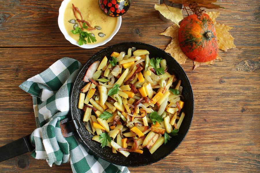 жареный картофель на сковороде - рецепты