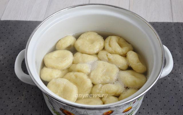 Ленивые вареники с картофелем - варить 7 минут