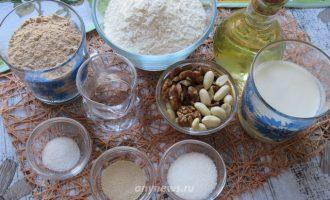 Гречневый хлеб с грецкими орехами - ингредиенты