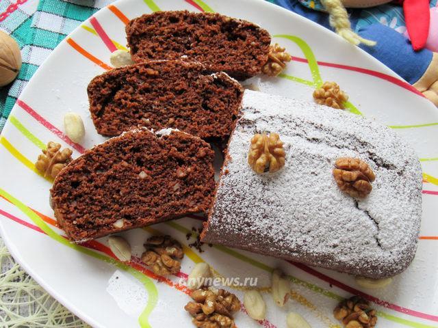 Шоколадный манник на кефире - рецепт с фото