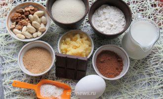 Шоколадный манник на кефире - ингредиенты