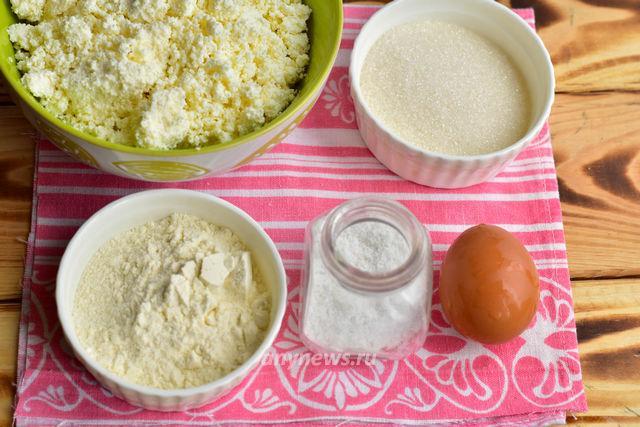 Сырники из творога на пару - ингредиенты