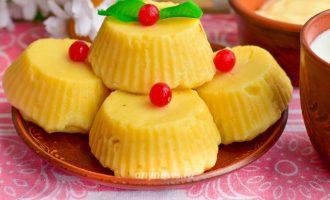 Сырники из творога на пару - рецепт с фото