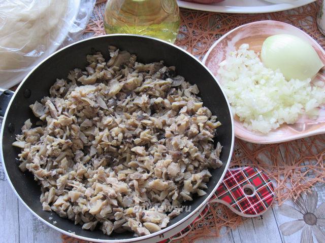 вареники с картошкой и грибами - начинка