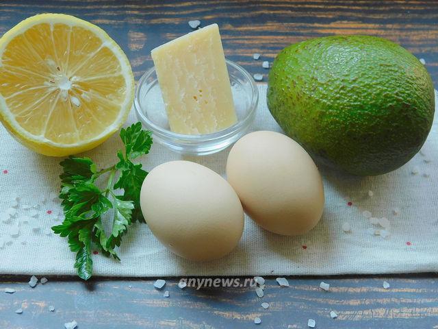 Авокадо с яйцом в духовке - ингредиенты