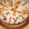 Бисквитный торт на агар-агаре с персиками - рецепт