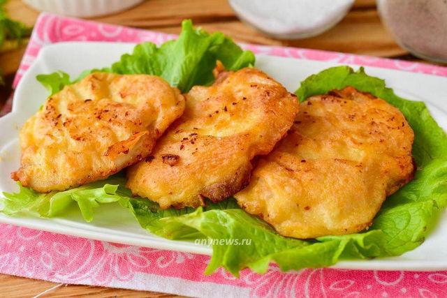 Отбивные из куриного филе в кляре - рецепт