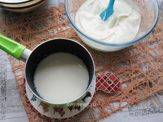 Творожное суфле с желатином без выпечки