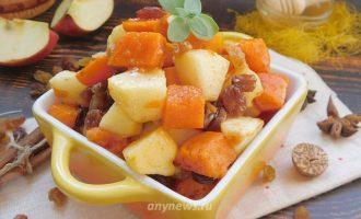 Тыква с яблоками в духовке - рецепт с фото
