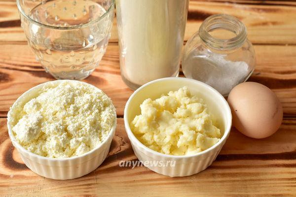 Вареники с творогом и картошкой - ингредиенты