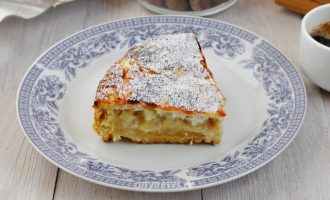 Яблочный пирог из песочного теста - рецепт с фото