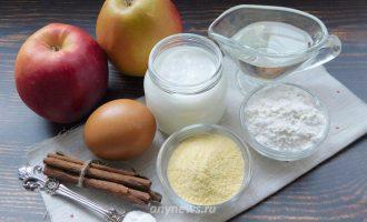 Яблоки жареные в кляре на сковороде - ингредиенты