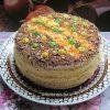 бисквитный торт со сметанным кремом - рецепт с фото