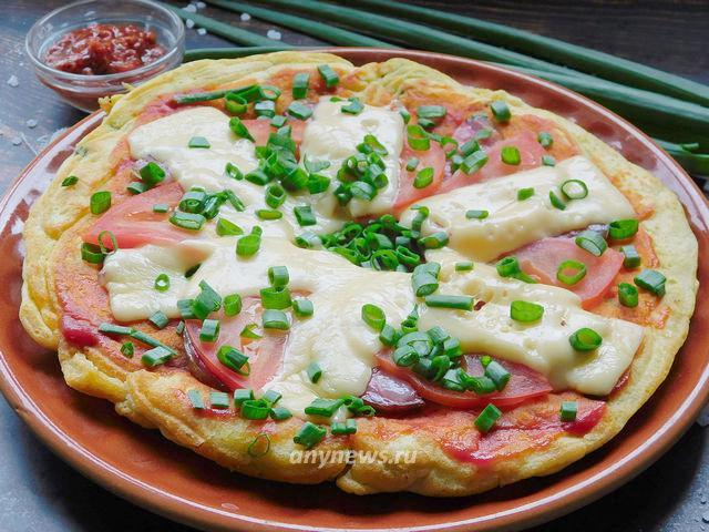 Быстрая пицца десятиминутка на сковороде