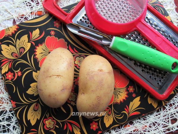 Домашний картофельный крахмал - ингредиенты