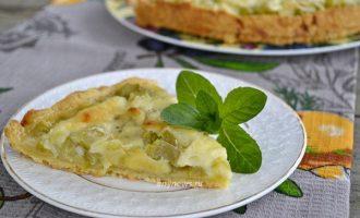 Песочный пирог с ревенем - рецепт