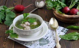 Суп Дачный из щавеля
