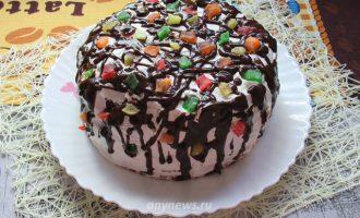 Бисквитный торт со сливками - рецепт с фото