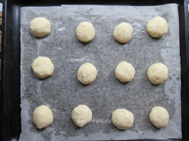 Творожно-кокосовое печенье