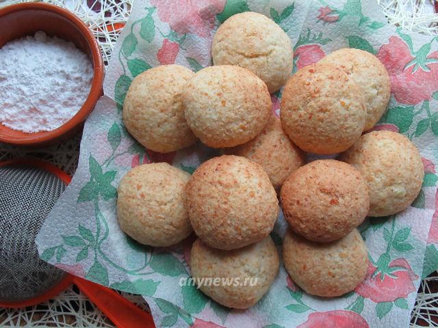 Домашнее Творожно-кокосовое печенье