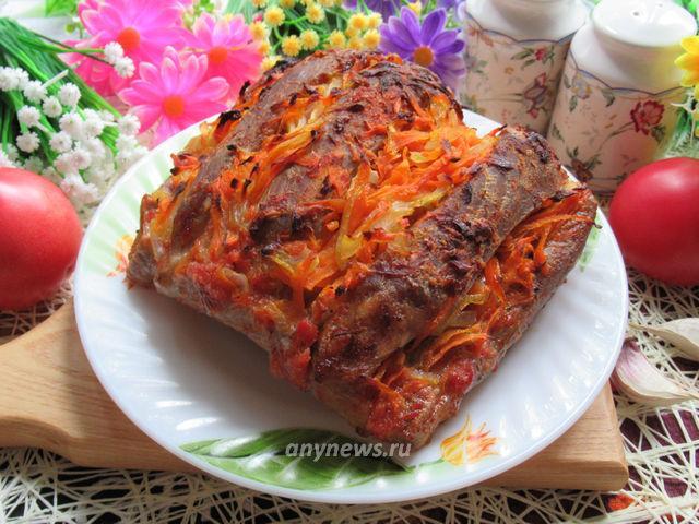 Свинина в духовке в фольге - рецепт с фото