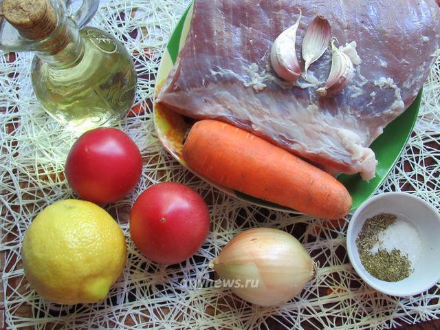 Свинина в духовке в фольге - ингредиенты