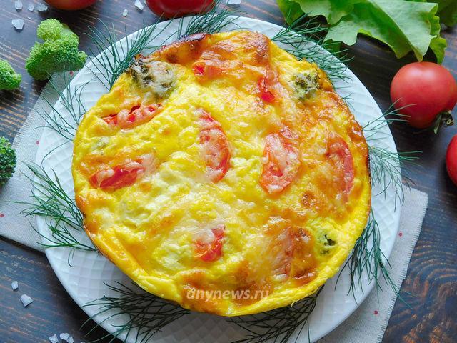 Запеканка из брокколи с сыром и яйцами в духовке