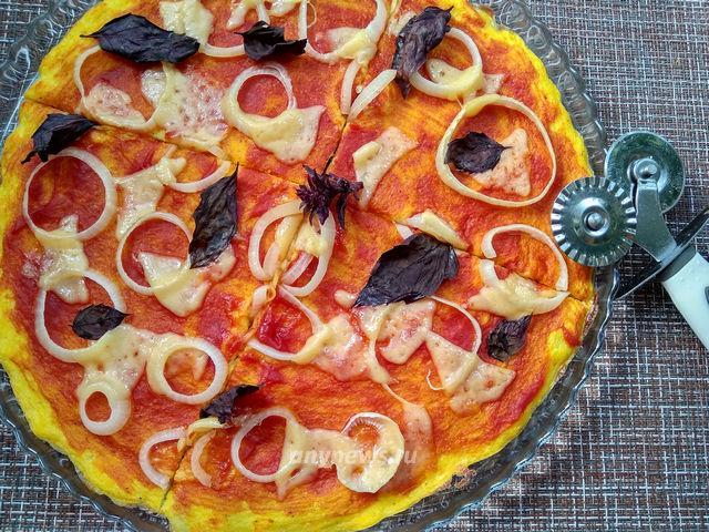 Пицца на кабачковой основе - рецепт с фото