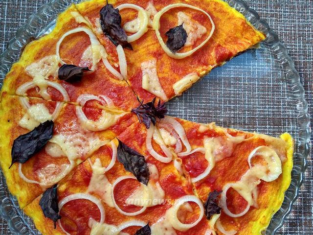 Пицца на кабачковой основе