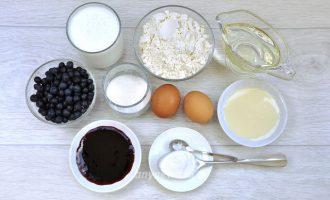Черничные кексы - ингредиенты