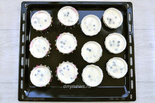 Кексы с черникой на кефире - выпекаем в духовке