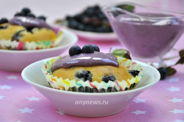 Черничные кексы - рецепт с фото
