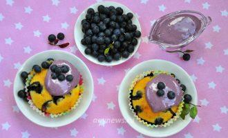 Кексы с черникой на кефире - рецепт с фото