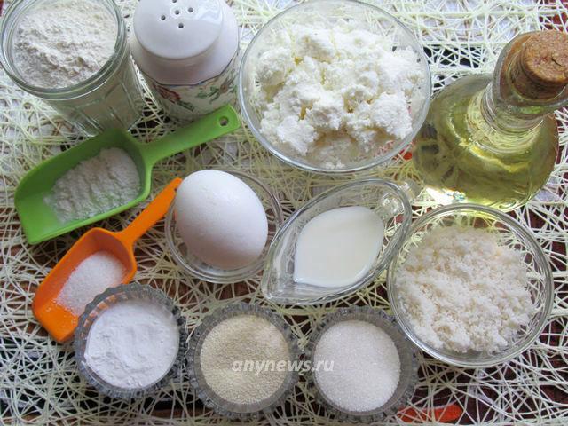 кокосовые сырники - ингредиенты