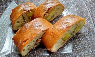 Пирог с рыбными консервами - рецепт с фото