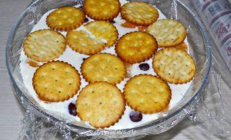 Творожный торт с фруктами и желатином без выпечки
