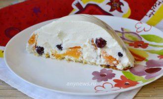 Творожный торт с фруктами без выпечки - рецепт с фото