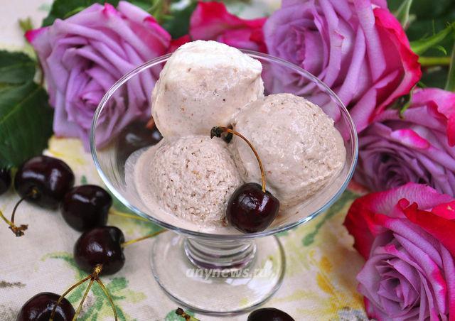 домашнее мороженое из вишни - рецепт с фото
