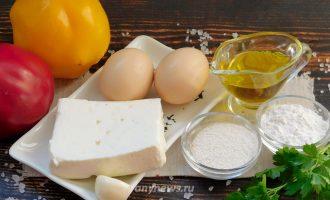 сладкий перец фаршированный сыром - ингредиенты