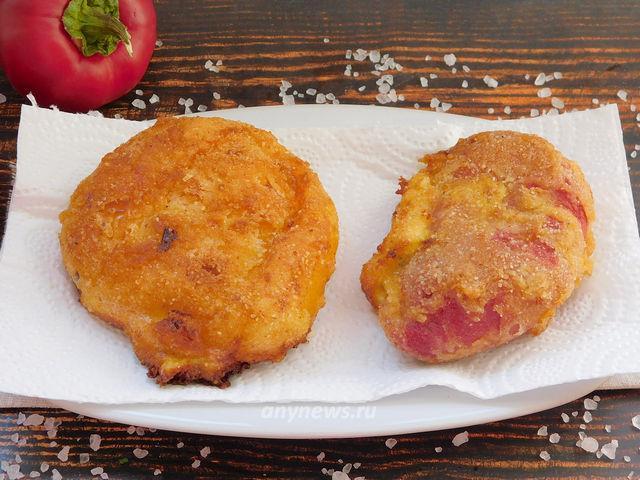 Чушка бюрек - сладкий перец фаршированный сыром