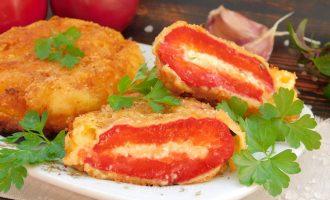 сладкий перец фаршированный сыром - рецепт с фото