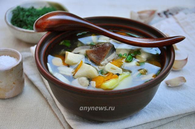 Грибной суп из белых грибов - рецепт с фото