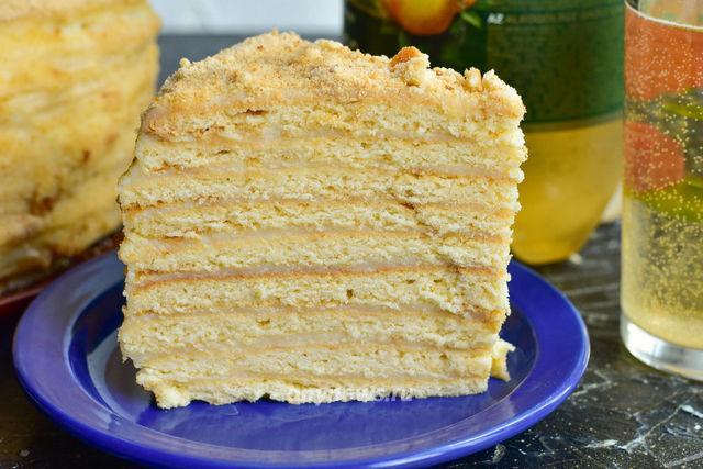 торт Медовик с заварным кремом в домашних условиях - рецепт с фото
