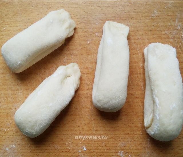 Плюшки с сахаром из готового дрожжевого теста