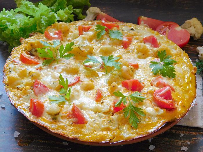 Омлет с цветной капустой и сыром