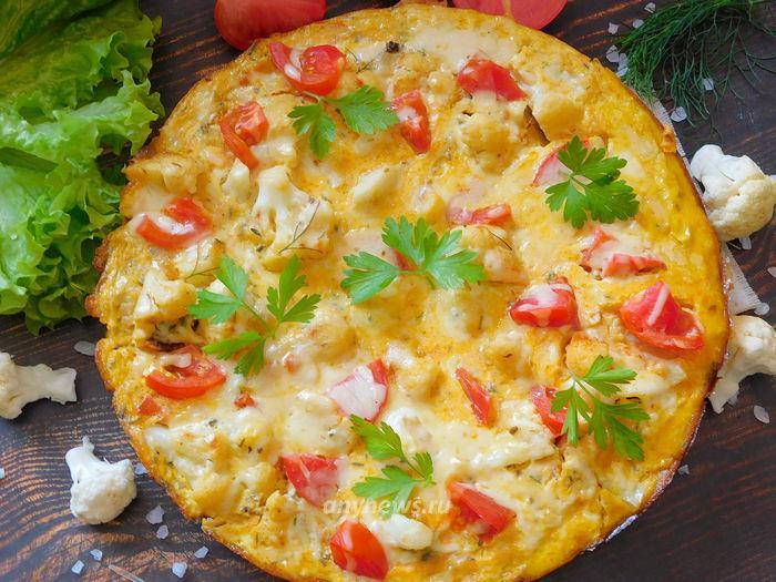 Омлет с цветной капустой и сыром - рецепт с фото