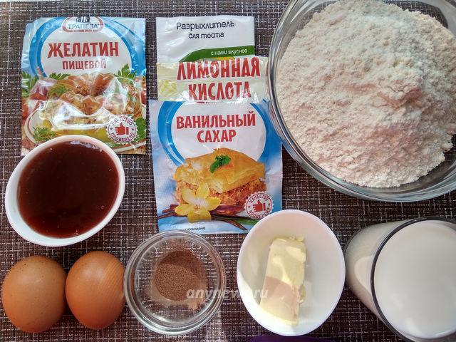 Венские вафли в вафельнице - ингредиенты